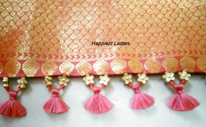 Saree Tassels Hand Work Diy Happiest Ladies