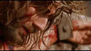 Jesus on the cross from the gospel of John film.