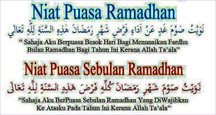 Lafaz Niat Puasa Ramadan Niat Puasa Sebulan Ramadan Dan Doa Berbuka Puasa Supermom With Superkids