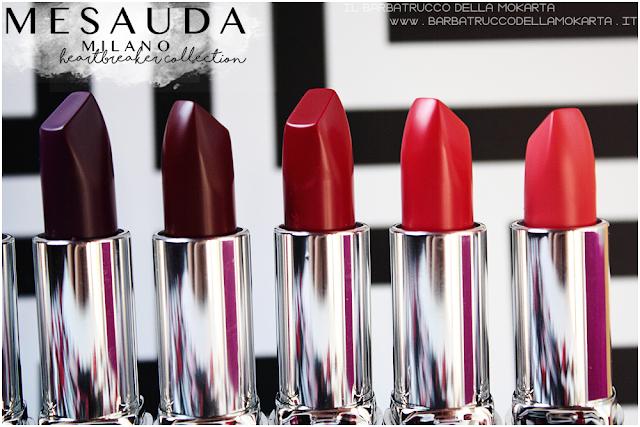 makeup comparazioni heartbreaker lipstick, rossetto matt , matt lipstick , mesauda