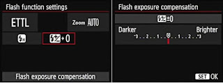 Flash exposure compensation