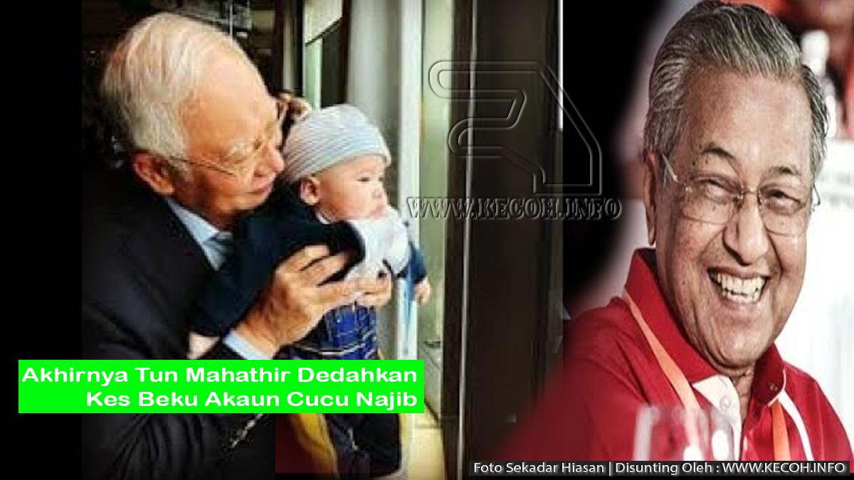 Tun Dr Mahathir Dedah Perkara Sebenar Tentang Pembekuan Akaun Cucu Najib