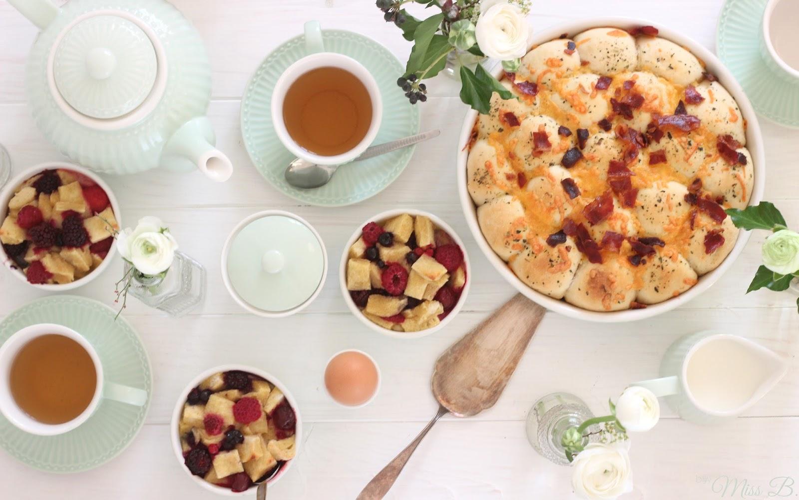 Mein Osterbrunch: Cheddar-Bacon-Balls und mini French-Toast-Aufläufe ...