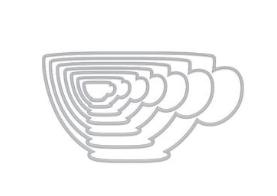 Hero Arts Nesting Tea Cup Infinity Dies