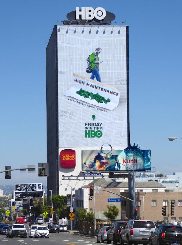 Giant High Maintenance series premiere billboard