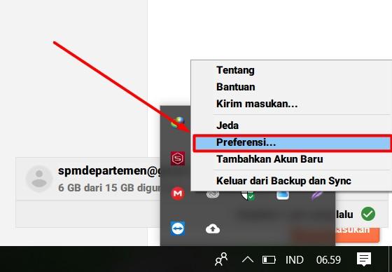 Menghentikan Saran Sinkron Google Drive Saat Colok Flashdisk