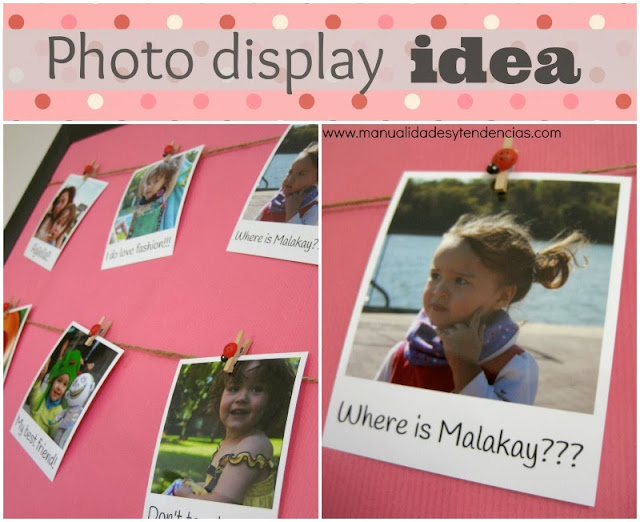 Expositor de fotos diy / photo display idea diy / pêle-mêle de photos fait maison