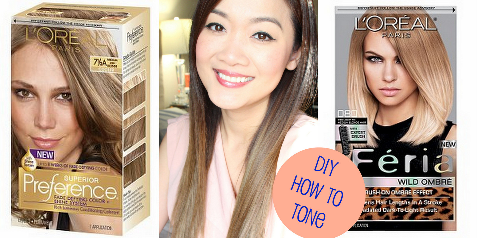 Loreal Ombre On Dyed Hair Simplymodish Diy How To Tone Brassy Hair