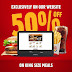 Burger King Kuwait - Get 50% discount on King size meals