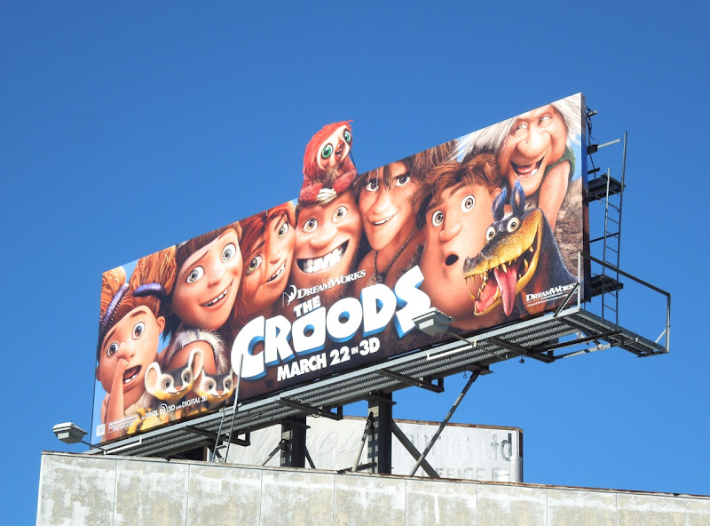 Croods movie billboard