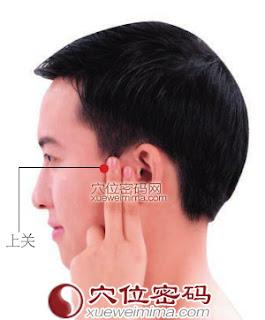 上關穴位 | 上關穴痛位置 - 穴道按摩經絡圖解 | Source:xueweitu.iiyun.com