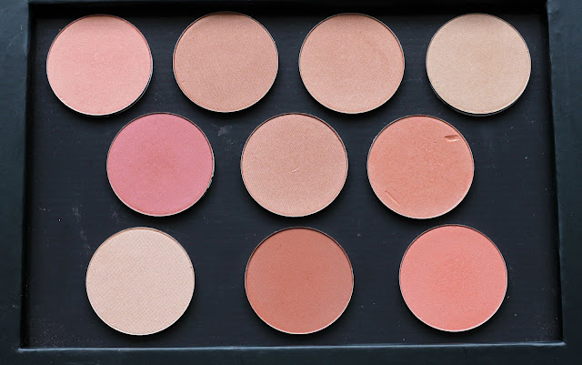 PAC Cosmetics High Pigmented Blushers Swatches and Review. Indian Beauty Blog