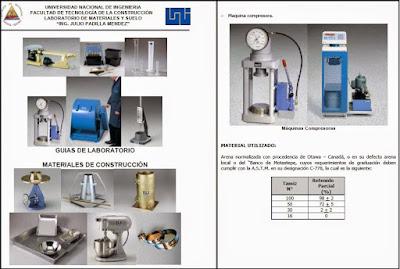 Guía de Ensayos de Laboratorio de materiales de construcción