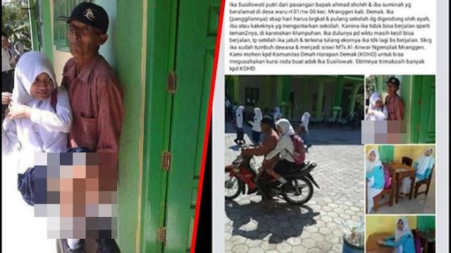 Foto Ayah Yang Berjuang Untuk Pendidikan Anaknya Ini Membuat Netizen Menangis