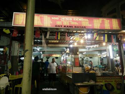 Gerai cendol durian sedap di Seksyen 24, Shah Alam