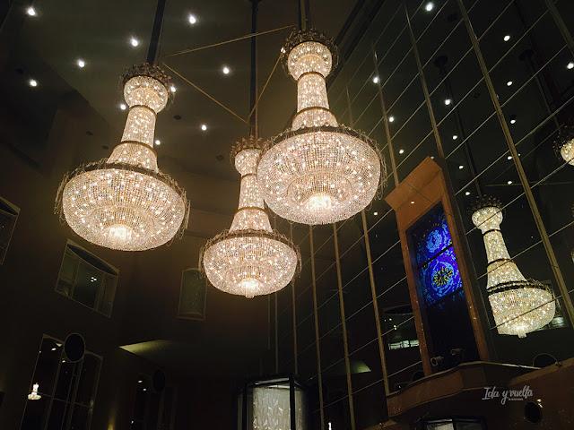 Lámparas de la entrada del Hyatt Regency Tokio