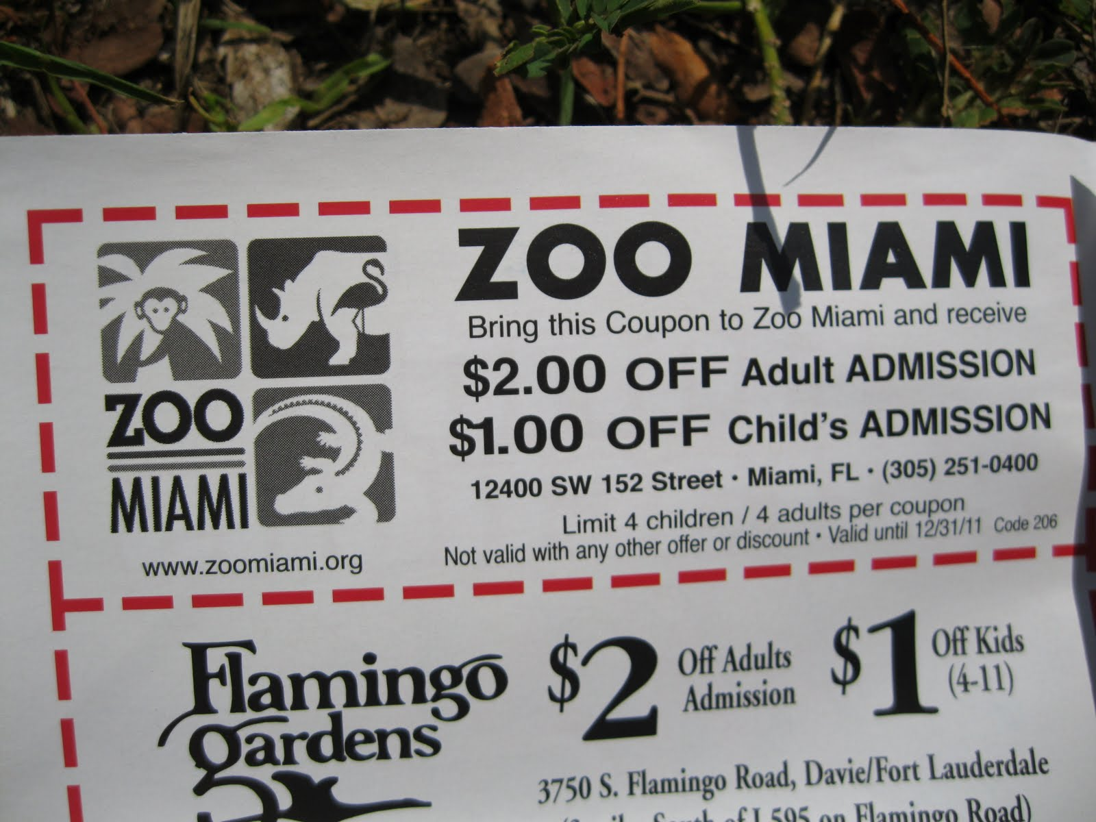 The Miami zoo offers a group discount starting at ten people. The larger the group, the higher the discount. The Entertainment book has a coupon for Zoo mixedforms.ml you don't have a book or a mobile app, you can get one here. A Zoo Miami Military discount of 50% off active personnel and 25% off retired personnel.