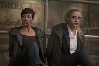 "Kim Rhodes as Jody Mills and Kathryn Love Newton as Claire Novak in Supernatural 11x12 ""Don't You Forget About Me"""