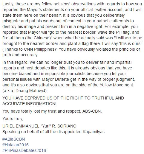 ABS-CBN Bashed Because Of Biased Reporting Towards The Final Presidential Debate