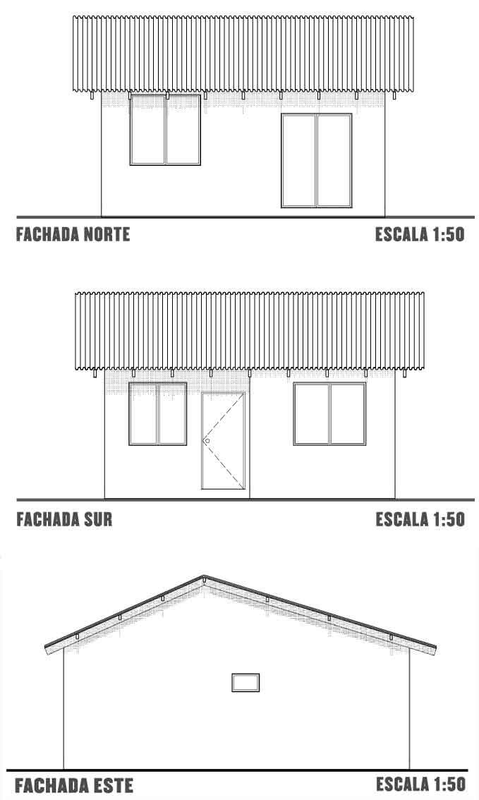 Plano de casa de un nivel proyectos de casas for Planos de fachadas