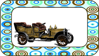 Old Cars Free Printable  Labels.