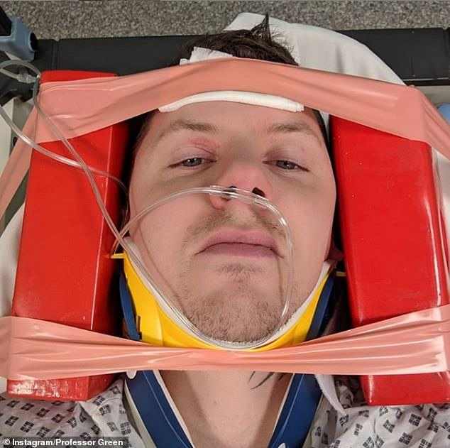 Professor Green forced to cancel his UK tour as he suffers neck fracture from falling during three horrific seizures