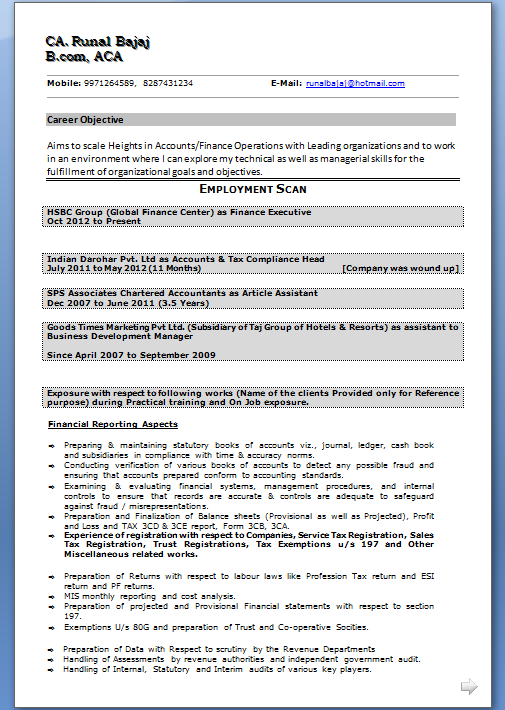 Attractive Resume Objective Sample for Career Change