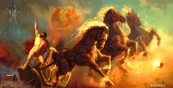 Image result for Τα άρματα των ουράνιων Ολυμπίων θεών