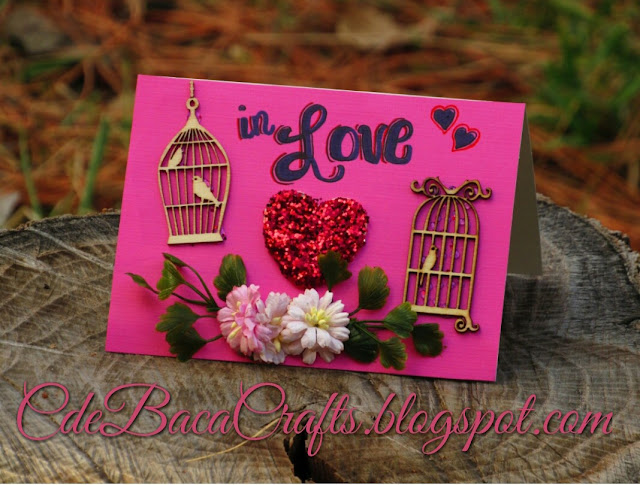 Handmade Valentines Day Card by CdeBaca Crafts Gallery blog.