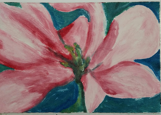 full colour monoprint of flower