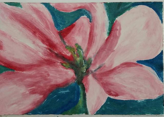 full colour monoprint of flower