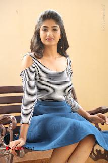 Telugu Actress Roshini Prakash Stills Short Dress at Saptagiri Express Release Press Meet  0152.JPG