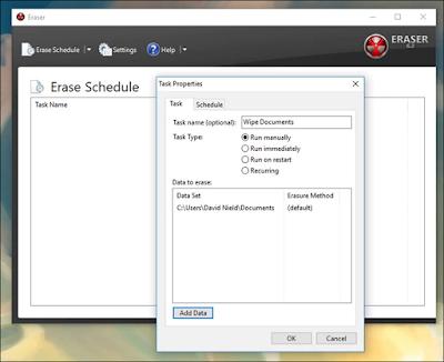 Eraser أقوى برنامج حذف الملفات نهائيا من الكمبيوتر ومنع استرجاعها