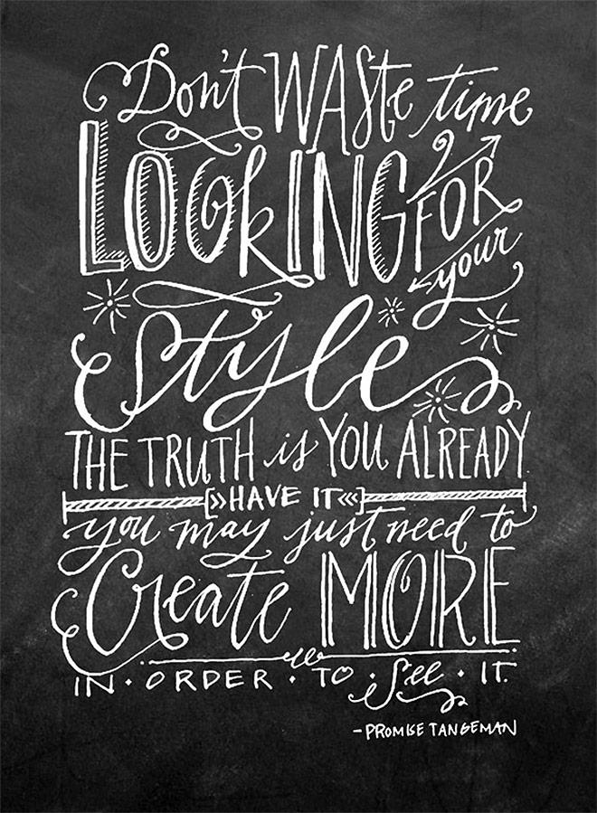 Inspirasi desain tipografi terbaik dan terbaru - Create More by Lindsay Letters