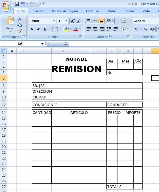 formato de remision - Ecosia