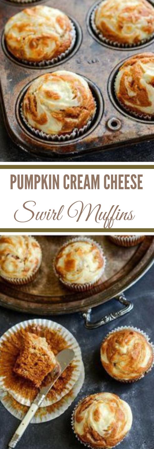PUMPKIN CREAM CHEESE SWIRL MUFFINS #muffins #dessert