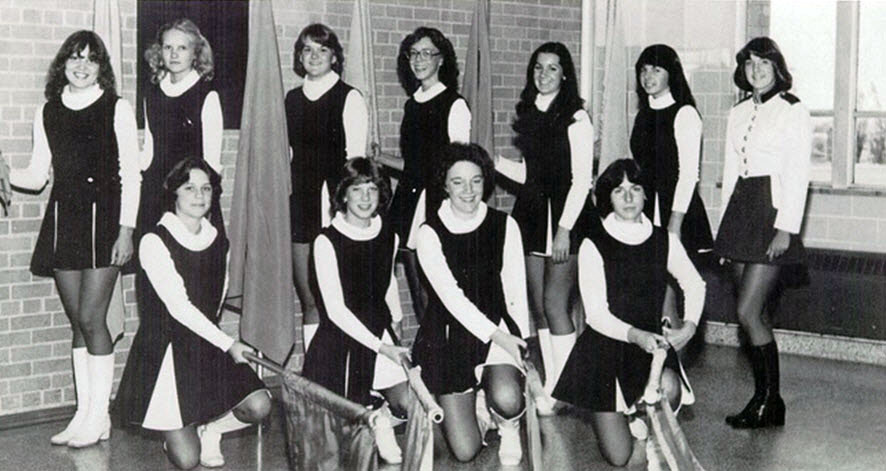 BW Photographs of Cheerleaders in 1960s  70s  vintage everyday