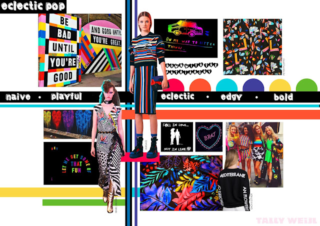 naive print, playful pattern, political pop, edgy, bold fashion, punk fashion, colourful punk, contemporary punk, modern punk, bright colours, primary colours, LGBT fashion, down with the patriarchy, feminist fashion, slogan print, confetti crowd