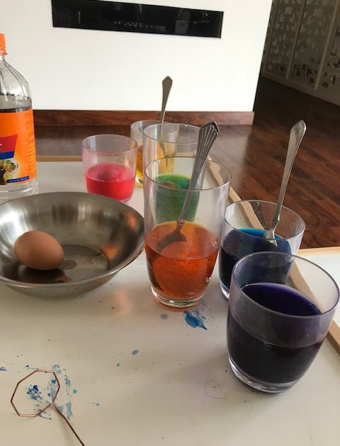 Day 2: Dying Easter Eggs, Traditional Nepalese Cuisine, and Thamel