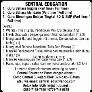 Lowongan Kerja Sentral Education Sukajadi