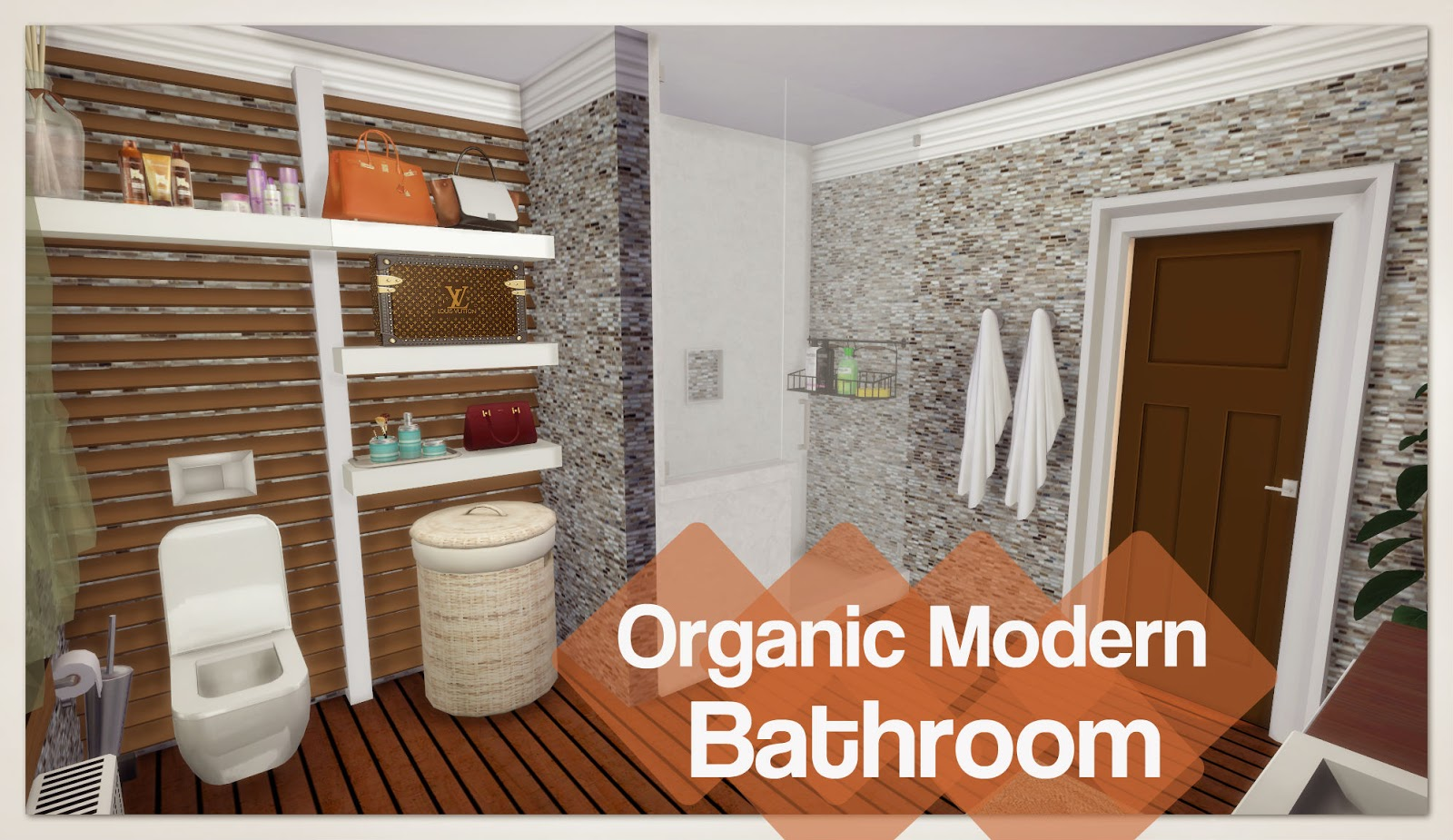 Sims 4 organic modern bathroom room mods for download for Bathroom ideas sims 4