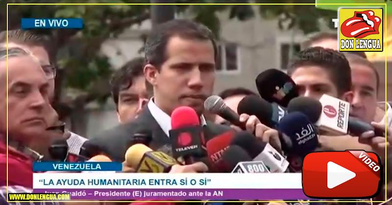 Presidente Guaidó anunció nuevos puntos de ingreso de ayuda humanitaria