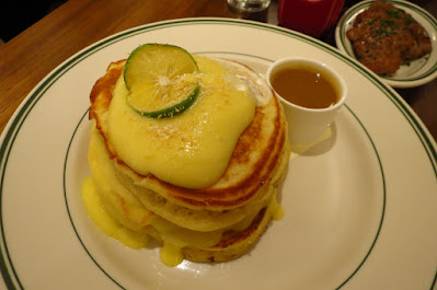 Clinton Street Baking Co., lemon curd pancake