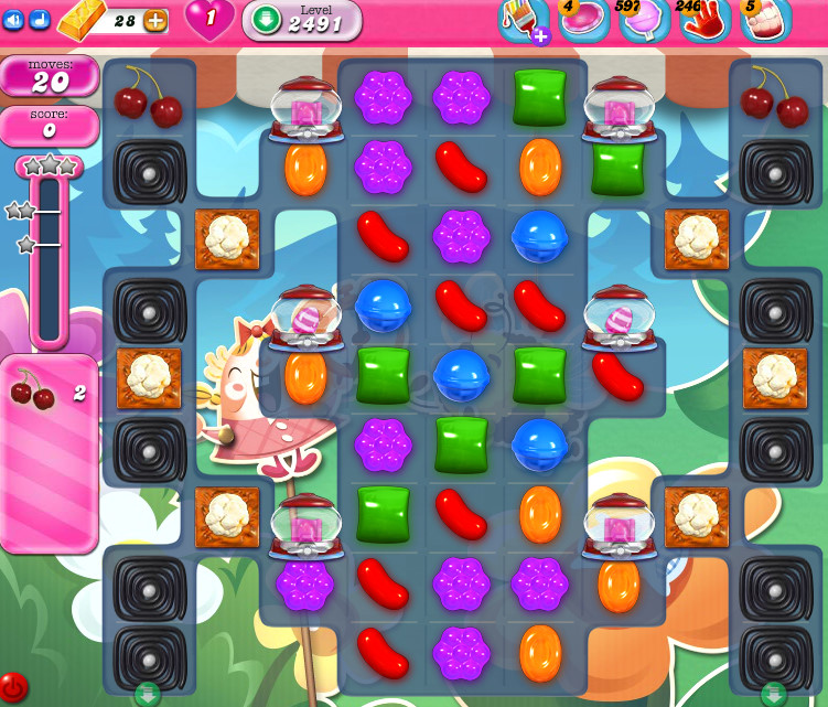 Candy Crush Saga level 2491