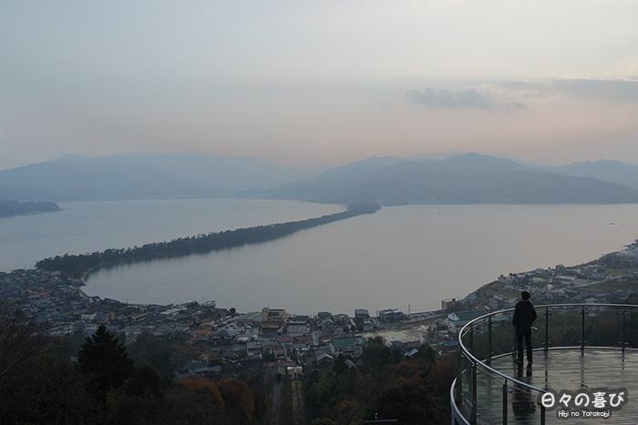 vue sur Amanohashidate depuis le parc Kasamatsu