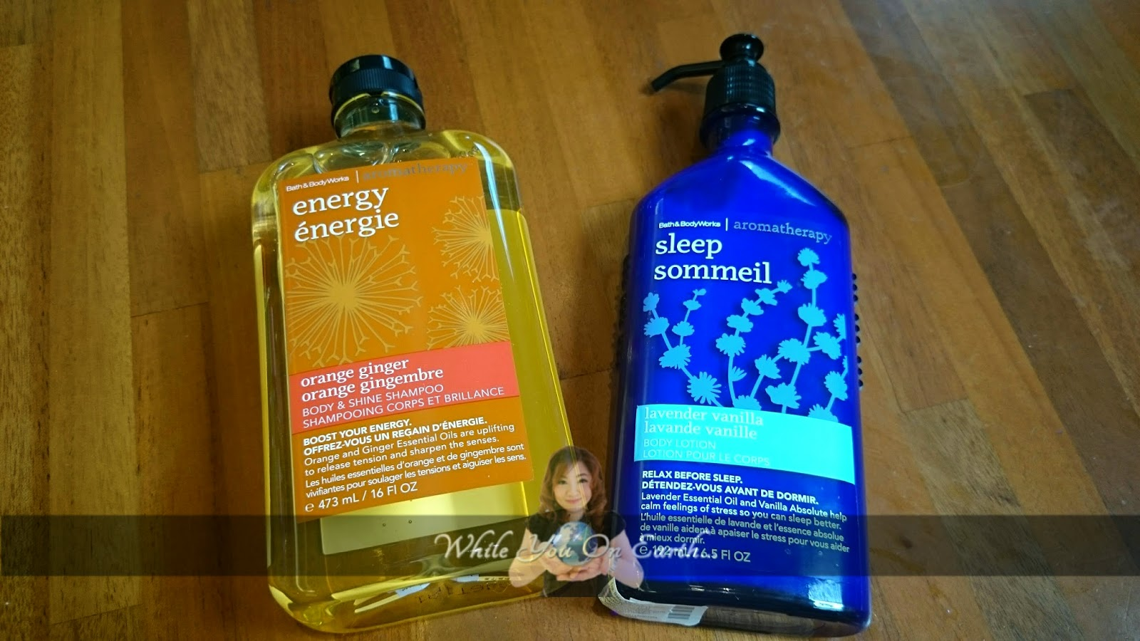 While You On Earth Bath And Body Works Sleep Sommeil Lavender Vanilla Body Lotion And Energy Orange Ginger Shampoo