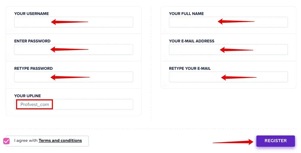 Регистрация в SelectedBank 2