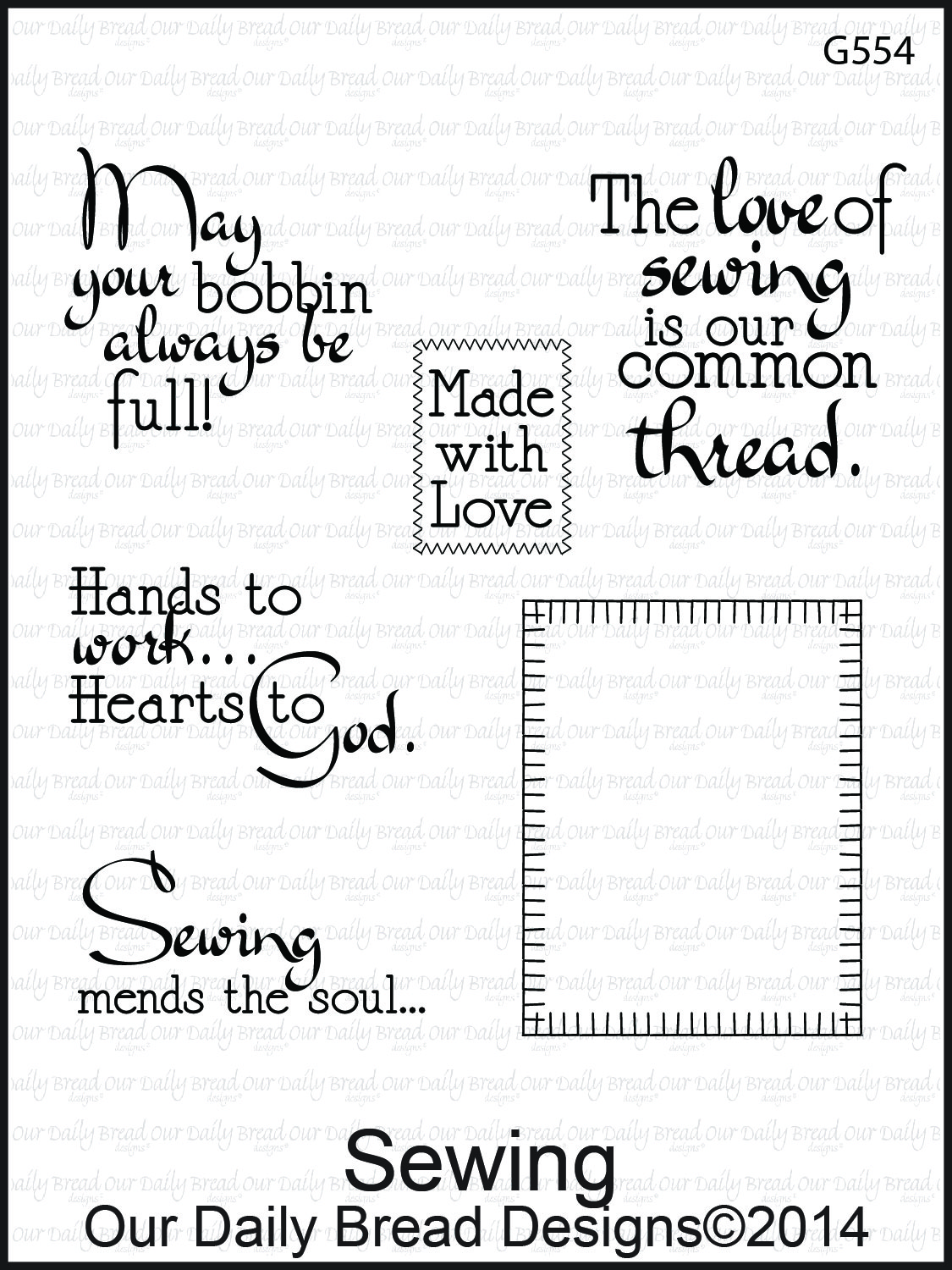 Stamps - Our Daily Bread Designs Sewing