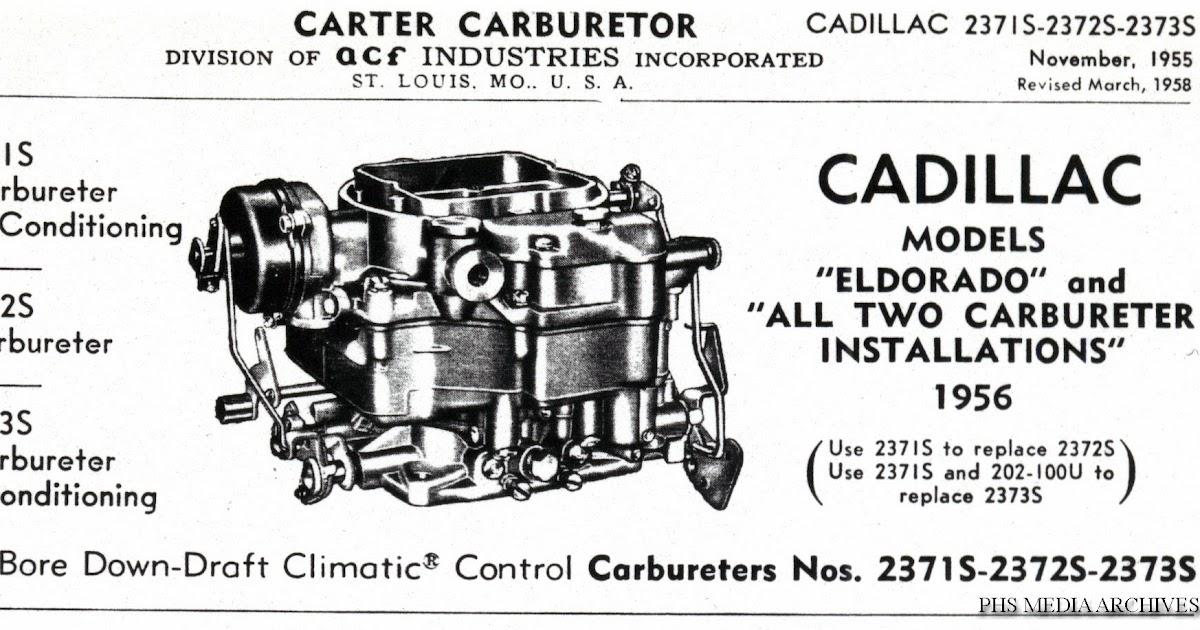 Tech Files: Cadillac Carter WCFB Carb Technical Bulletins