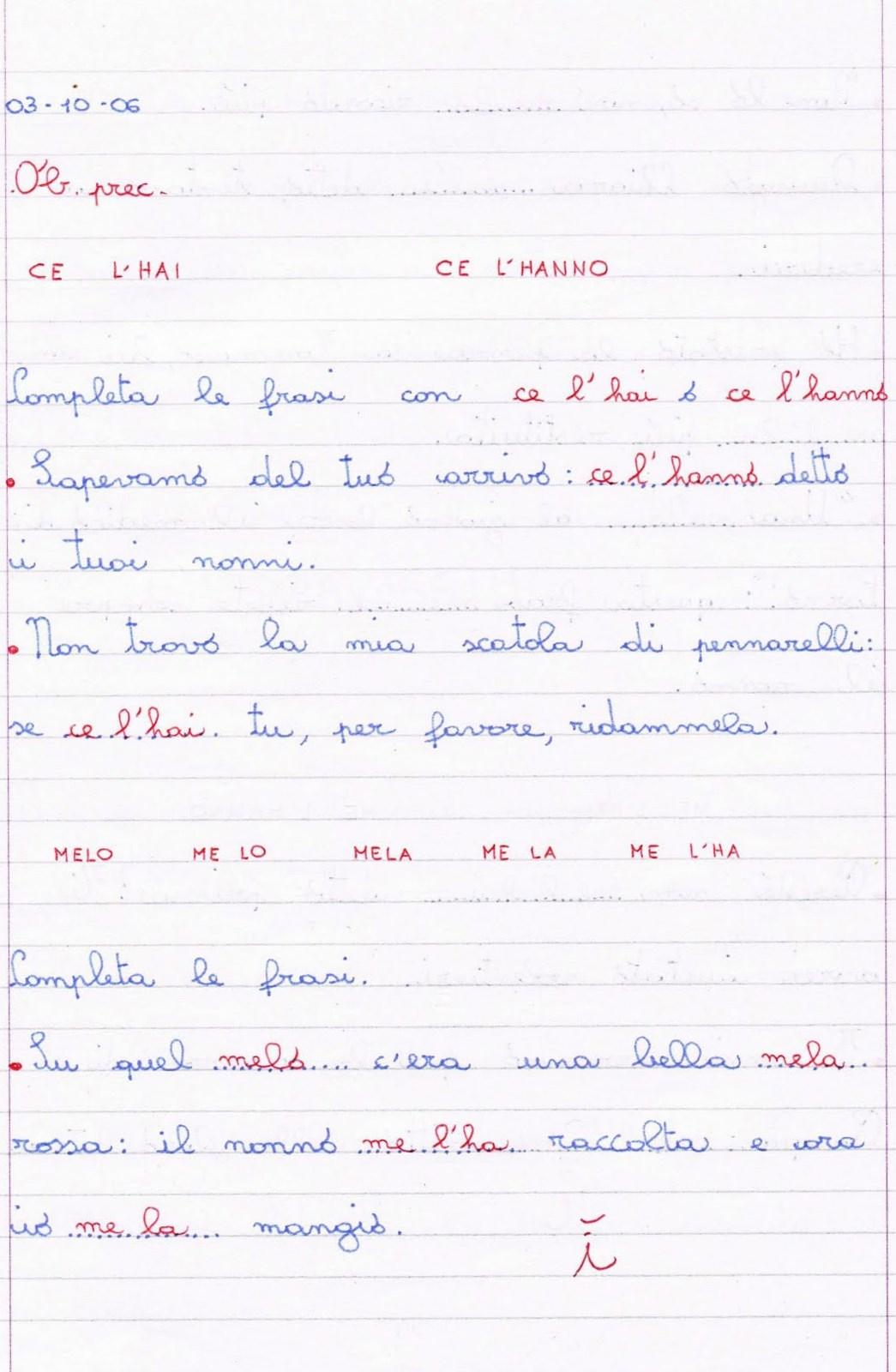 Esercizi D Ortografia Per La Classe Quarta Della Scuola Primaria